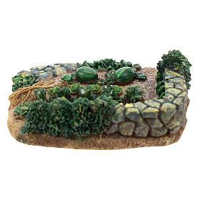 Horta de 2x9x9 cm em resina para presépio com peças de 6-8 cm de altura média s4