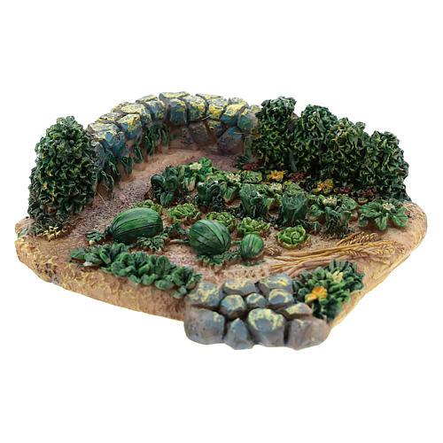 Horta de 2x9x9 cm em resina para presépio com peças de 6-8 cm de altura média 2
