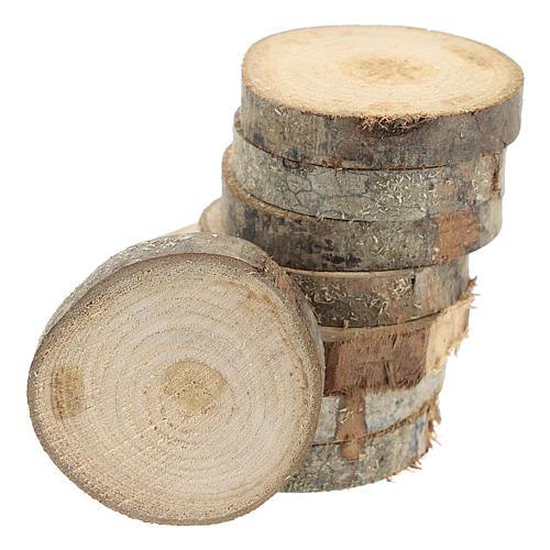 Rondins de bois de 7 cm de diamètre pour bricolage de crèche 1