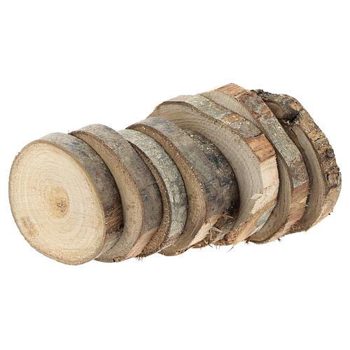Rondins de bois de 7 cm de diamètre pour bricolage de crèche 2