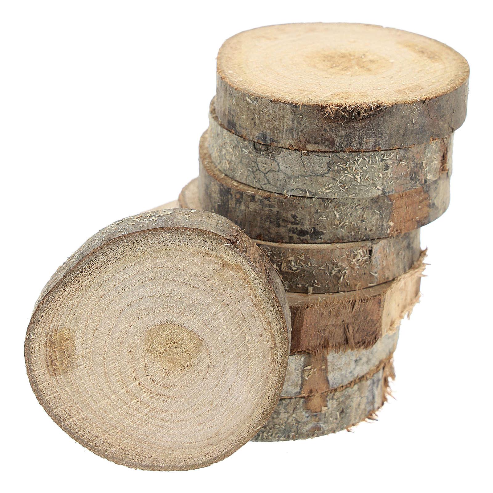 Rondelle di legno di diametro 7 cm per presepi fai da te 4