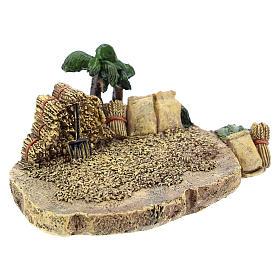 Campo de trigo de resina de 4x7x10 cm para belén 4 cm s3