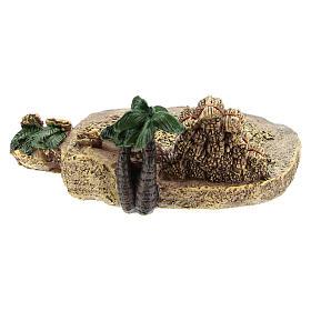 Campo di grano in resina di 4x7x10 cm per presepe 6-8 cm s4