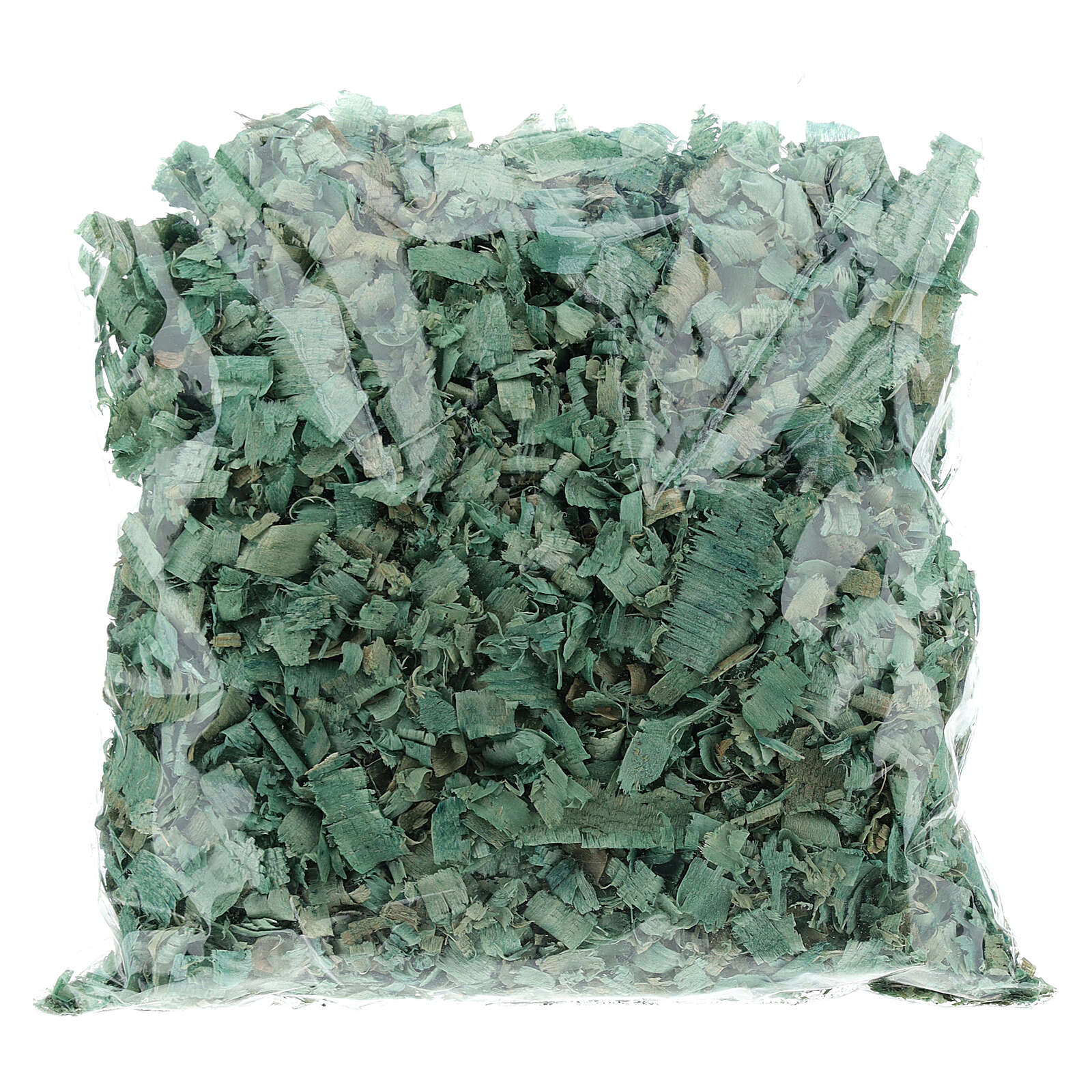 Green wood chips 100 g, for nativity scene flooring 4