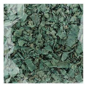 Green wood chips 100 g, for nativity scene flooring s1