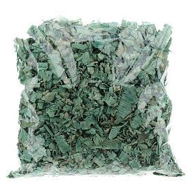 Green wood chips 100 g, for nativity scene flooring s2