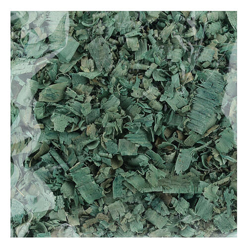 Green wood chips 100 g, for nativity scene flooring 1
