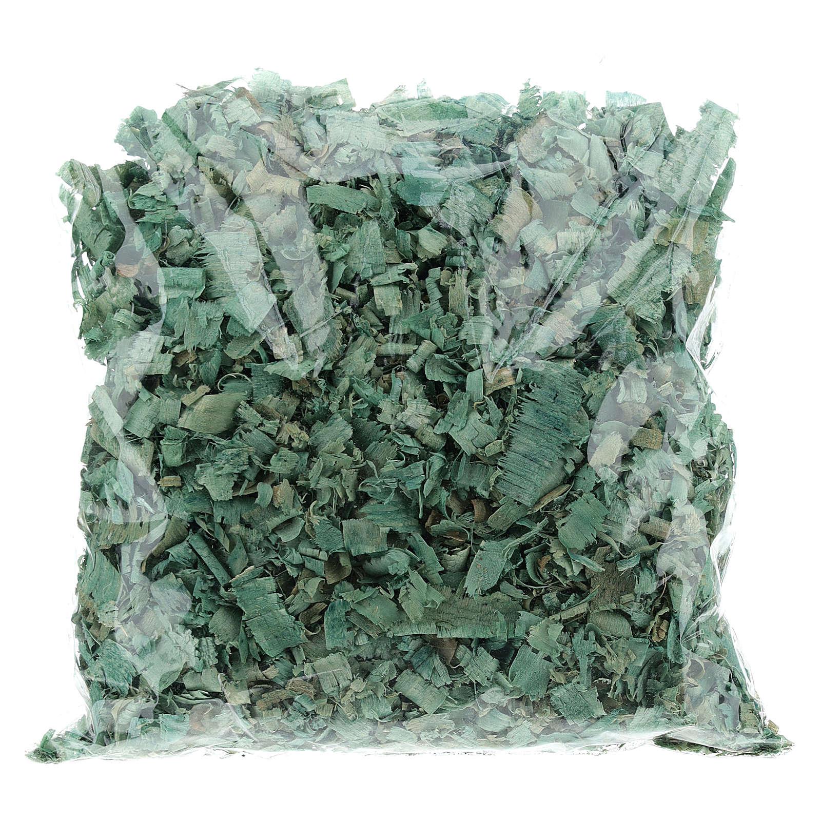 Truciolo verde 100 gr per pavimentazioni presepe 4
