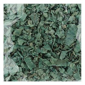 Truciolo verde 100 gr per pavimentazioni presepe s1