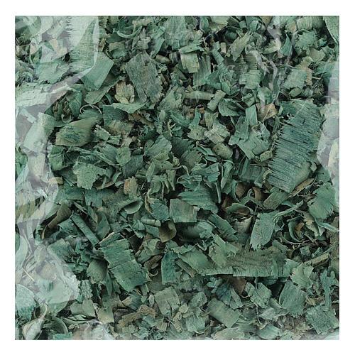 Truciolo verde 100 gr per pavimentazioni presepe 1