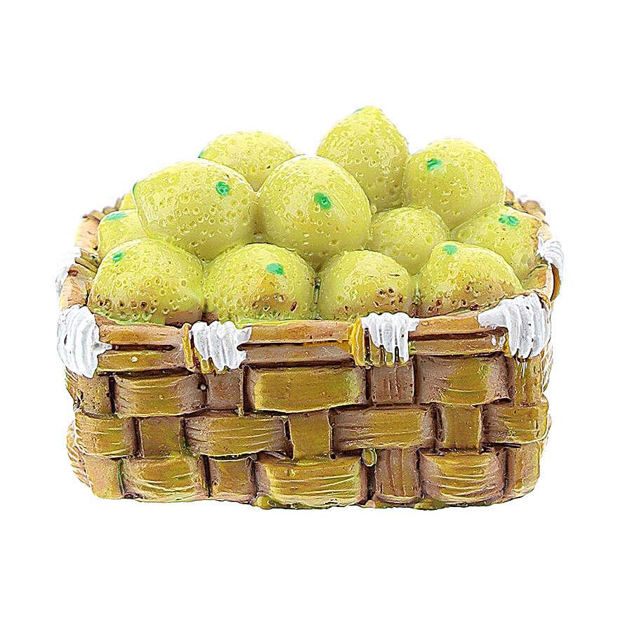 Basket with resin vegetables for DIY Nativity scene 8-10 cm 4