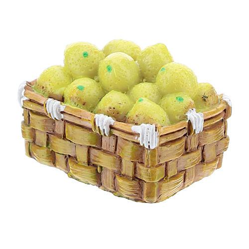 Basket with resin vegetables for DIY Nativity scene 8-10 cm 2