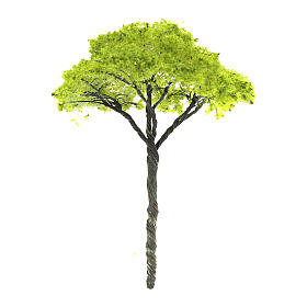 Green tree without base for DIY Nativity scene real height 9 cm s1