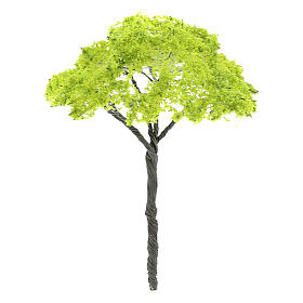 Green tree without base, for nativity real h 9 cm s2