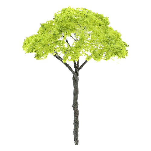 Green tree without base, for nativity real h 9 cm 2