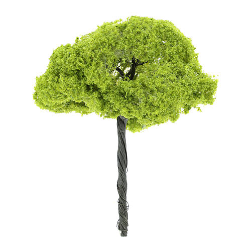 Green tree without base for DIY Nativity scene real height 14 cm 2