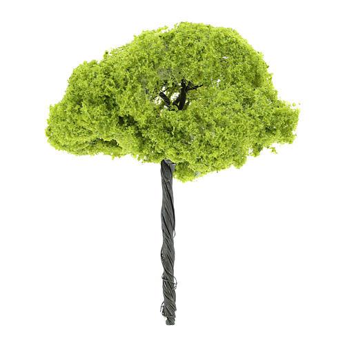 Árbol verde sin base altura real 14 cm 2