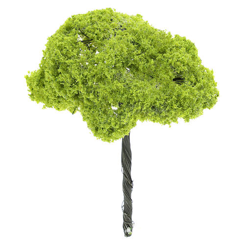Green tree figurine without base, real h 14 cm 1