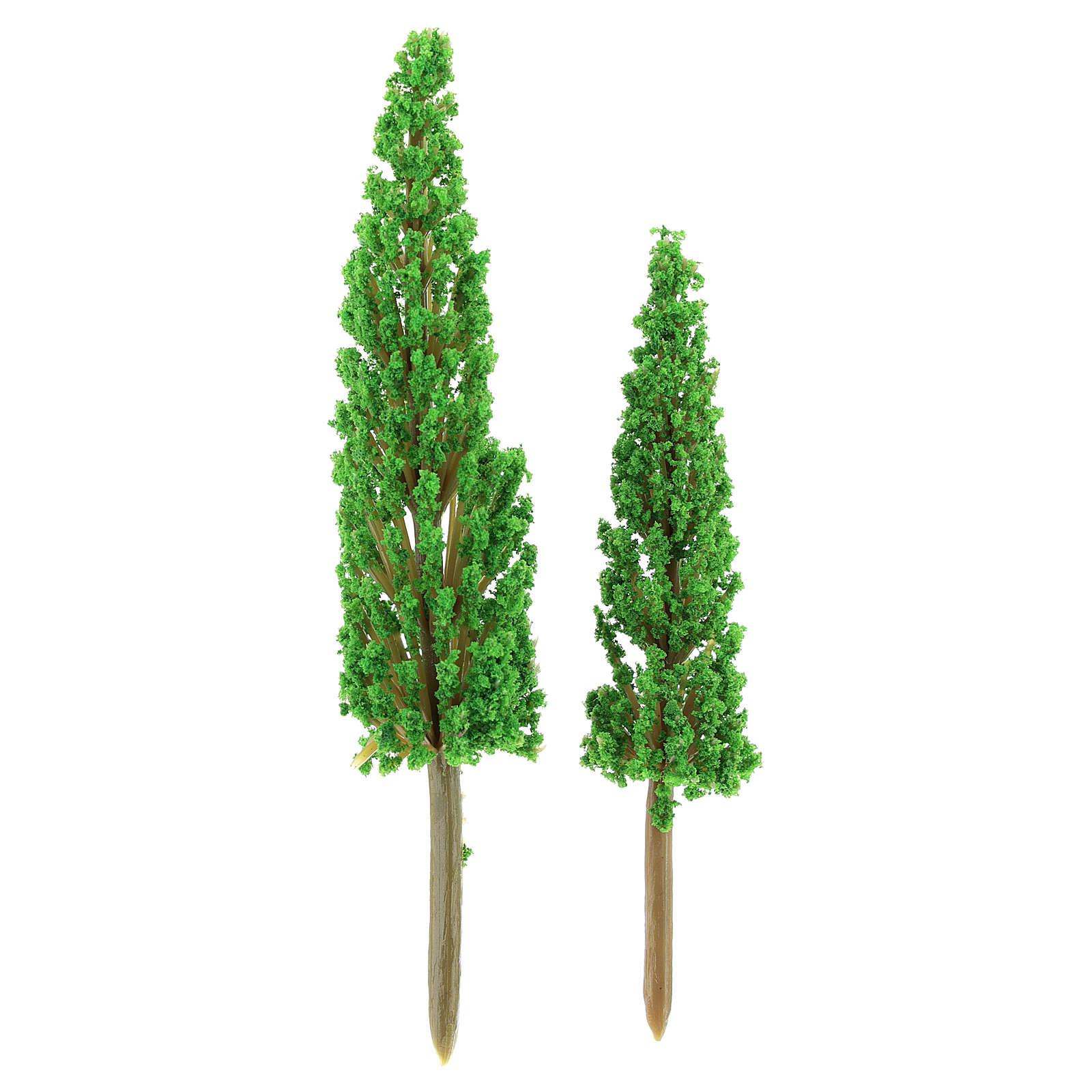 Conjunto 2 ciprestes altura rea 11-14 cm bricolagem presépio 4