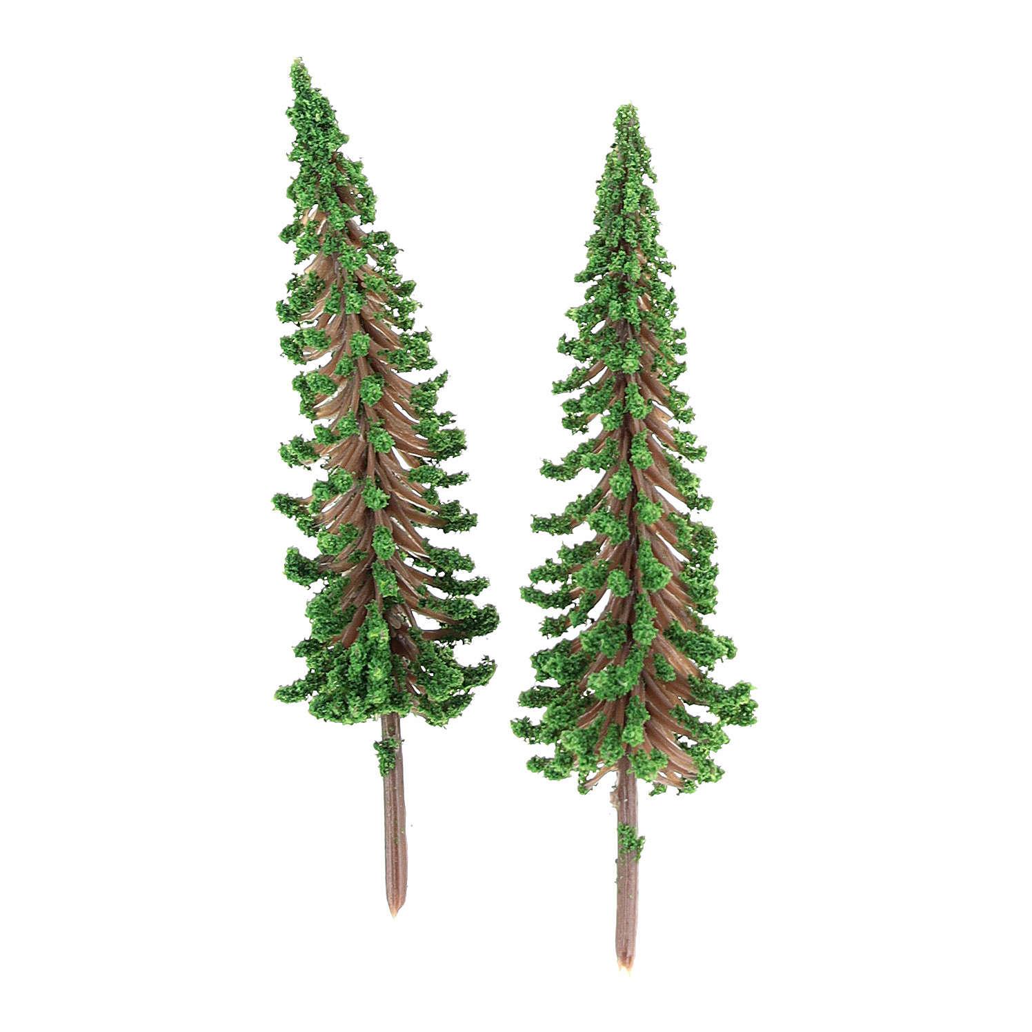 Árboles cipreses 2 piezas para belén hecho con bricolaje h real 6,5 cm 4