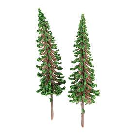 Mousse végétale, Lichens, Arbres, Pavages: Arbres cyprès 2 pcs pour bricolage crèche h réelle 6,5 cm