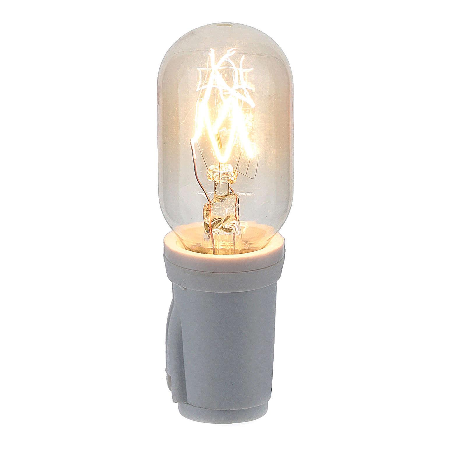Soquet et ampoule 3 lumen E12 4