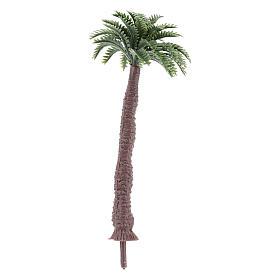 Palmier sans base h réelle 9 cm pour bricolage de crèche s2