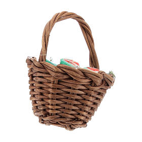 Basket with prickly pears and handle Nativity scenes 12 cm s2