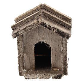 Caseta simple de madera para belenes de 10 cm s1