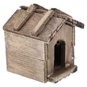 Caseta simple de madera para belenes de 10 cm s3