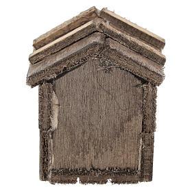 Caseta simple de madera para belenes de 10 cm s4