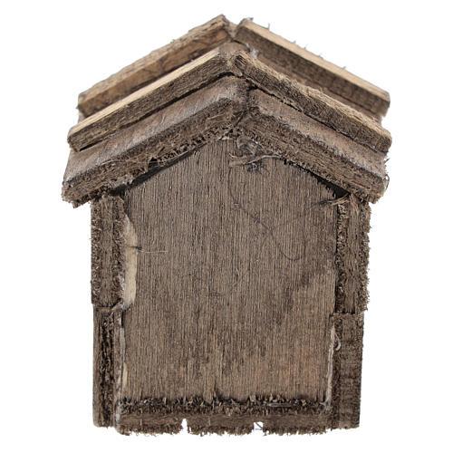 Caseta simple de madera para belenes de 10 cm 4