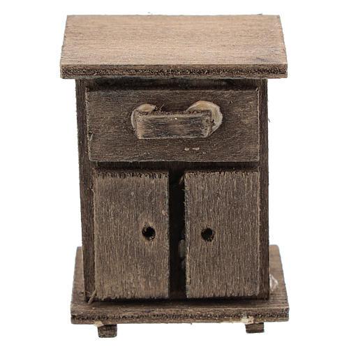 Table de nuit en bois crèche 11 cm 1