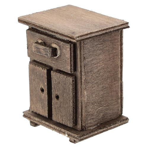 Table de nuit en bois crèche 11 cm 2