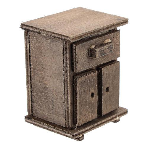 Table de nuit en bois crèche 11 cm 3