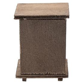 Comodino in legno presepi 11 cm s4