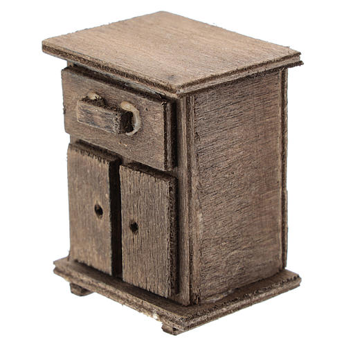 Comodino in legno presepi 11 cm 2