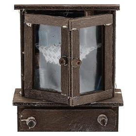 Credenza con cassettiera legno presepi 11 cm s2