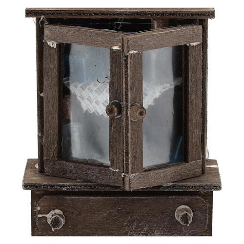 Credenza con cassettiera legno presepi 11 cm 2