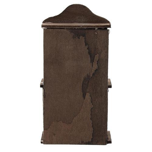 Credenza con cassettiera legno presepi 11 cm 5