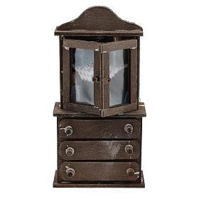 Presépio Napolitano: Prateleiras com gavetas madeira para presépio com figuras de 11 cm de altura média