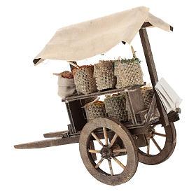 Carro con sacos de especias belén 12 cm s4