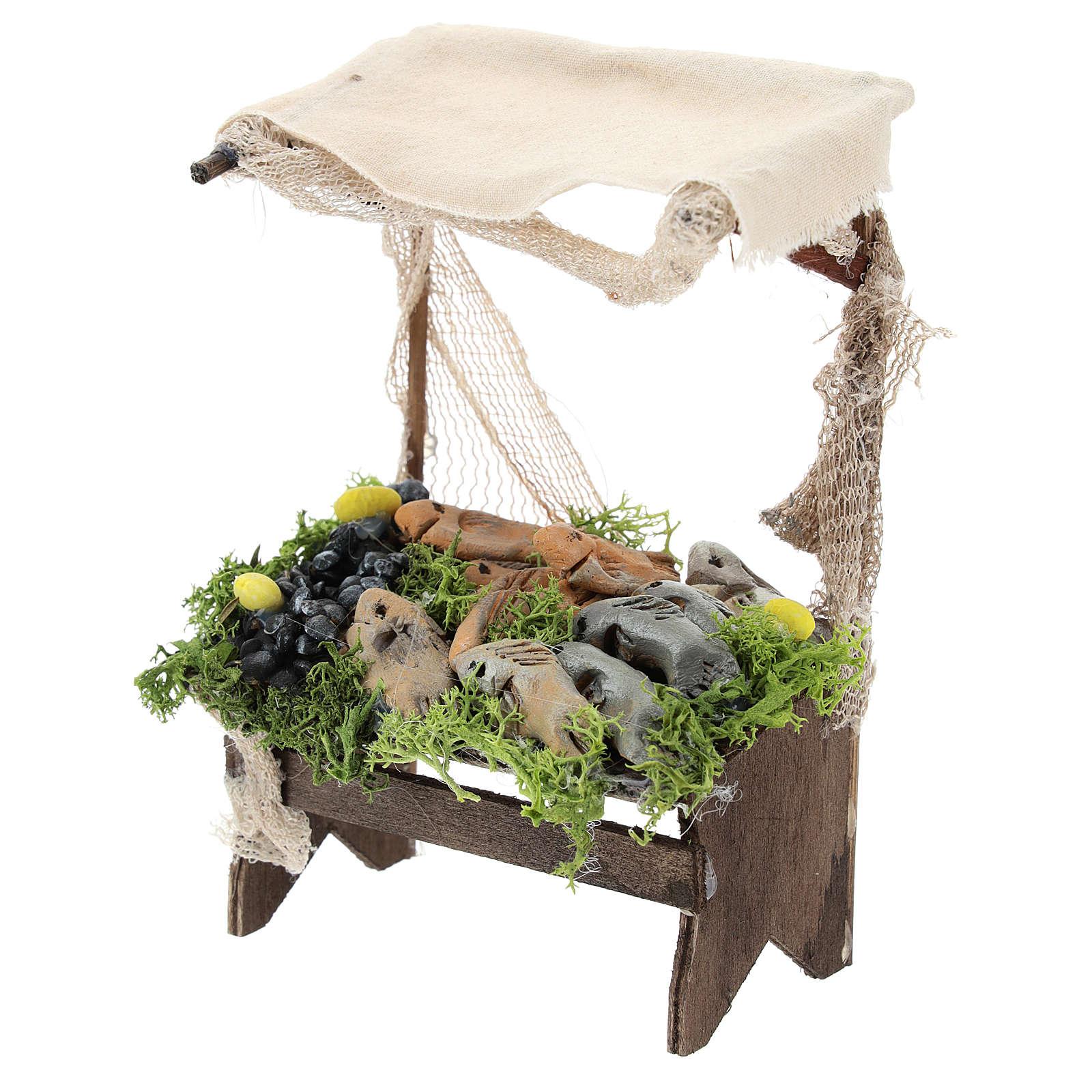 Mussel and fish stand Nativity scene 11 cm 4