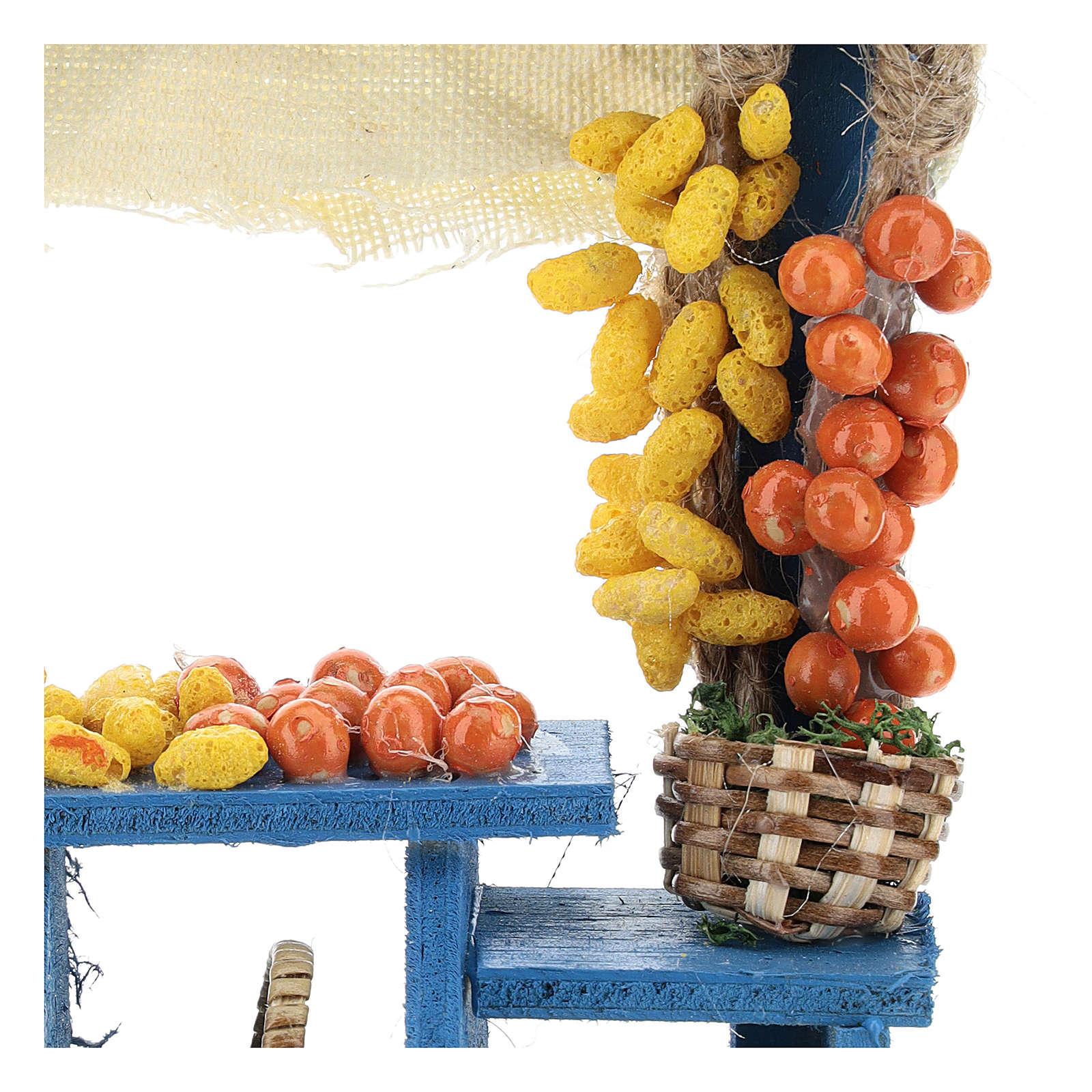Banco frutta azzurra stile napoletano presepi 13 cm 4