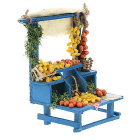 Banco frutta azzurra stile napoletano presepi 13 cm s4