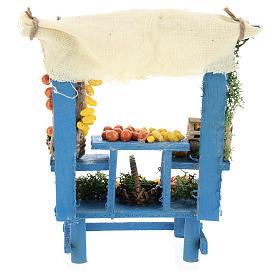Banco frutta azzurra stile napoletano presepi 13 cm s5