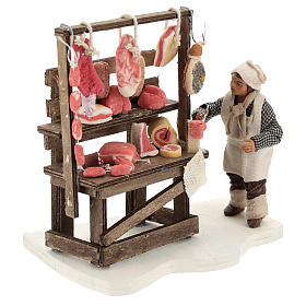 Étal viande et charcuterie avec boucher 10 cm s4