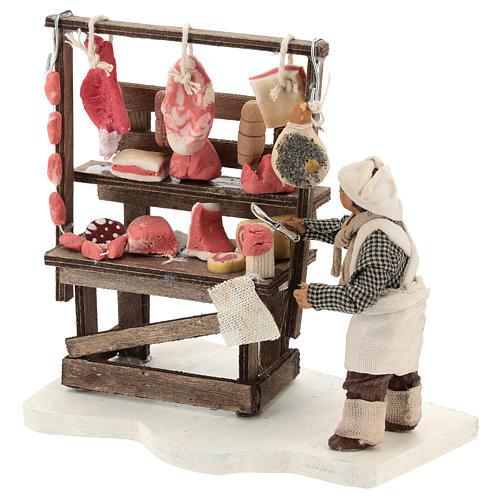 Étal viande et charcuterie avec boucher 10 cm 3