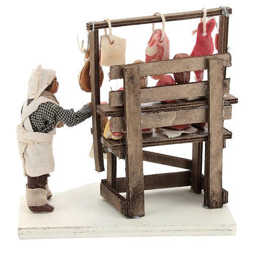Étal viande et charcuterie avec boucher 10 cm 5