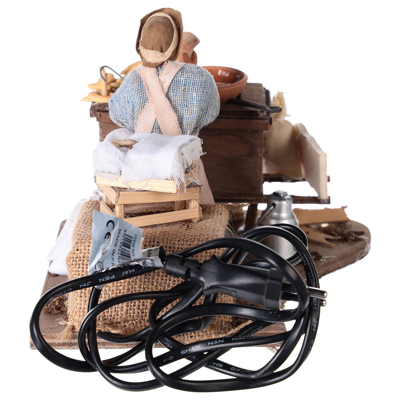 Ambulante carrito buñuelos y movimiento 13 cm 4